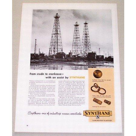 1953 Synthane Laminated Plastics Oil Rigs Vintage Print Ad
