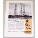 1953 Synthane Laminated Plastics Oil Rigs Vintage Print Ad