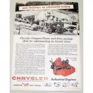 1955 Chrysler Industrial Engines Vintage Print Ad Industrial 30 Engine