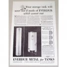 1934 Everdur Metal For Tanks Vintage Print Ad