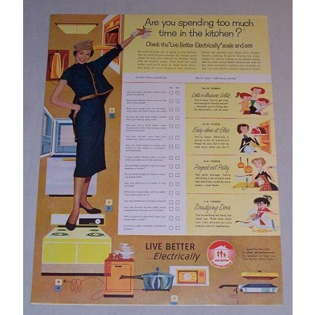 1958 Live Better Electricity Vintage Print Color Ad