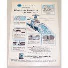 1955 FMC Peerless Pump Division Water Control Color Print Art Ad