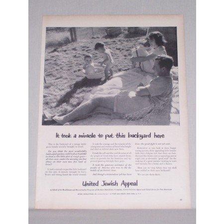 1950 United Jewish Appeal Vintage Print Ad It Took A Miracle