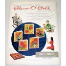 1948 Gleam O Gold Rust Craft Greeting Cards Color Print Ad