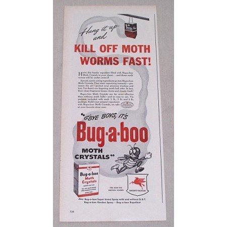 1946 Socony Vacuum Bug-A-Boo Moth Crystals Vintage Print Ad