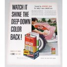 1955 Johnson's Car Wax Deep Gloss Carnu Color Print Ad