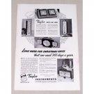 1936 Taylor Temperture Gauge Instruments Vintage Print Ad