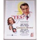 1944 Color Print Movie Art Ad CASANOVA BROWN Celebrity Gary Cooper Teresa Wright