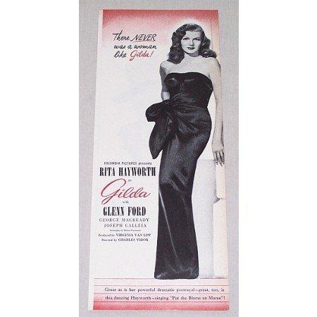 1946 Vintage Movie Ad GILDA Celebrity Rita Hayworth