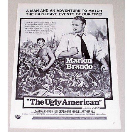 1963 Vintage Movie Ad THE UGLY AMERICAN Celebrity Marlon Brando