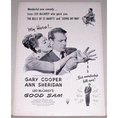 1948 Vintage Movie Ad GOOD SAM Celebrity Gary Cooper Ann Sheridan
