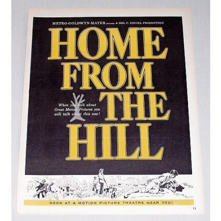 1960 MGM Movie Color Print Ad HOME FROM THE HILL