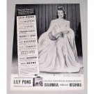 1943 Columbia Records Vintage Print Ad Celebrity Lily Pons