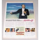1946 Columbia Records Color Print Ad Celebrity Conductor Kostelaneetz
