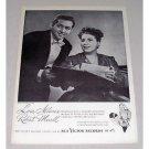 1946 RCA Vintage Print Ad - Opera Celebrity l. Albanese R. Merrill