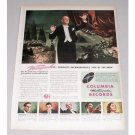 1946 Columbia Records Color Print Ad Celebrity Conductor D. Mitropoulos