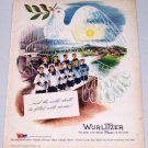1943 Rudolph Wurlitzer Dove Children's Choir Art Vintage Color Print Ad