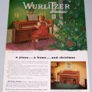 1947 Rudolph Wurlitzer Model 725 Piano Color Christmas Art Vintage Color Print Ad
