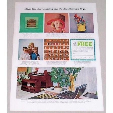 1962 Hammond Concert Model Organ Color Print Ad