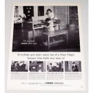 1960 Conn Spinet Organ Vintage Print Ad - Conn Builds More Music In