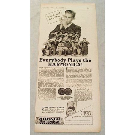 1929 Hohner Harmonicas Vintage Print Ad - Musical Pal Of Mine