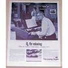 1961 Lowrey Holiday Chord Organ Vintage Print Ad - RX For Relaxing