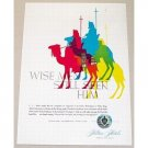 1955 Hilton Hotels 3 Wise Men Art Color Print Ad - Wise Men Still Seek Him