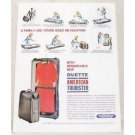 1962 Duette by American Tourister Luggage Color Print Ad