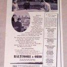 1953 Baltimore Ohio Railway White House Washington DC Vintage Print Ad