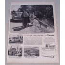 1950 Canadian Travel Bureau Vintage Print Ad See New Sights