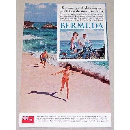 1961 Bermuda Vacation Color Print Ad