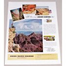 1949 Union Pacific Railroad Grand Canyon Color Print Ad