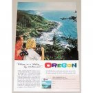 1961 Oregon Travel Cape Perpetua Color Print Ad