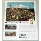 1946 Oregon Vacation Mt. Hood Rhododendron Time Color Print Ad