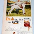1952 Dash Armour Dog Food Champion Trueluck's Challenge Pointer Vintage Pet Food Color Print Ad