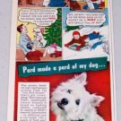 1947 Pard Swift's Dog Food Cartoon Art Color Print Ad