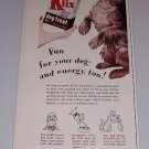 1954 French's Klix Dog Treat Color Print Ad