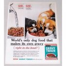 1961 Gaines Gravy Train Dog Food Vintage Print Color Ad