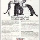 1961 Puss 'N Boots Cat Food Vintage Print Ad - Tuffy And Taffy