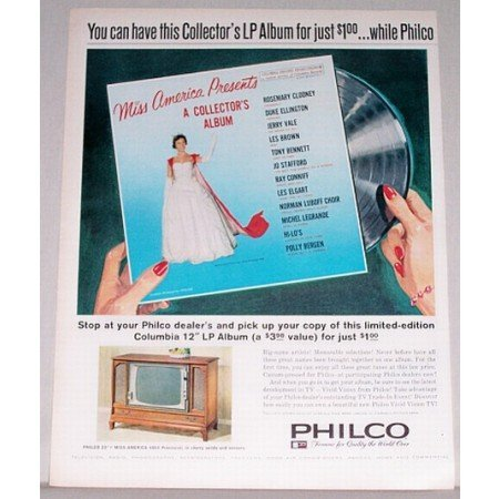 1961 Philco 23 Miss America 4864 Console TV Color Print Ad