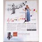 1944 General Electric Radio Color Print Ad Celebrity Frances Langford