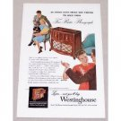 1947 Westinghouse One Sixty-Six Radio Phonograph Color Print Ad