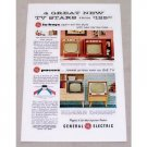 1955 General Electric Lo-Boy & Pacers Television Color Print Ad