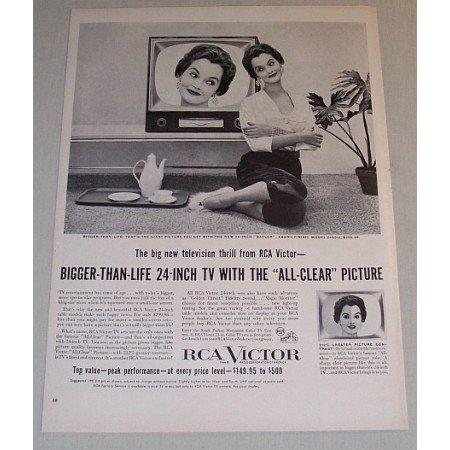 1955 RCA Victor Model 24S512 Baylor 24in Television Vintage Print Ad