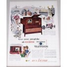 1948 RCA Victor Harrison Eyewitness Television Color Print Ad