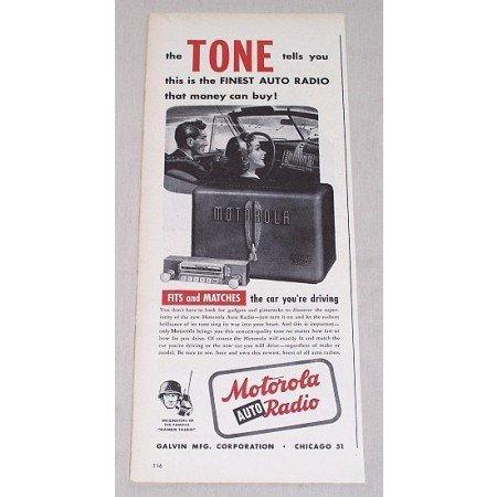 1946 Motorola Golden Voice Auto Radio Vintage Print Ad