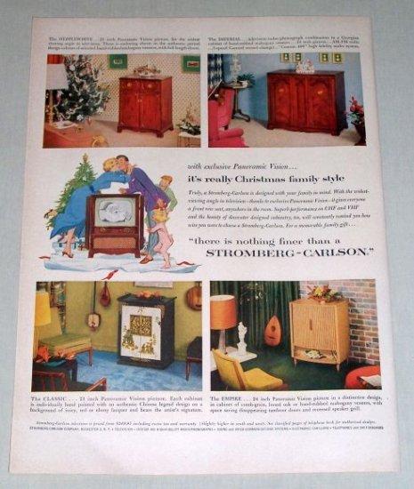 1953 Stromberg Carlson Panoramic Vision Televisions Color Print Ad