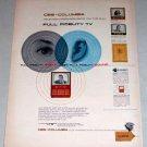 1953 CBS-Columbia Full Fidelity TV Receiver Color Print Ad