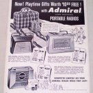 1955 Admiral Long Distance Deluxe Portable Radios Vintage Print Ad