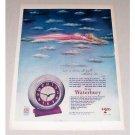 1946 Waterbury Alarm Clock Color Print Ad - Dream All Night